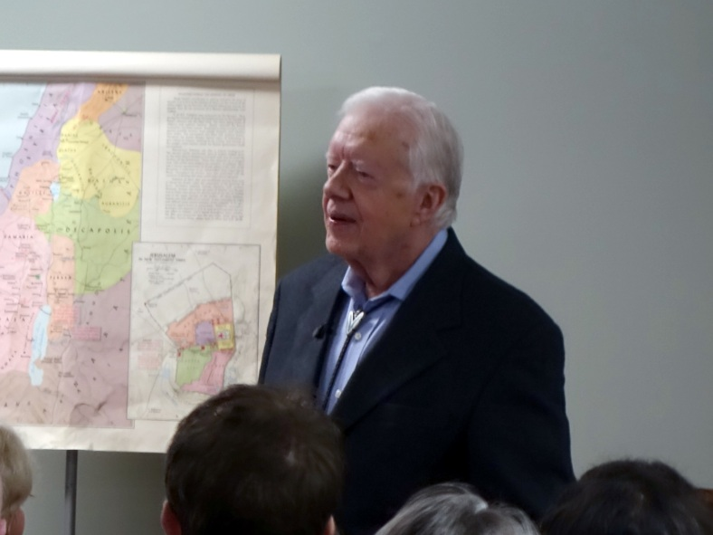 President Carter Teaching Sunday School August 23, 2015