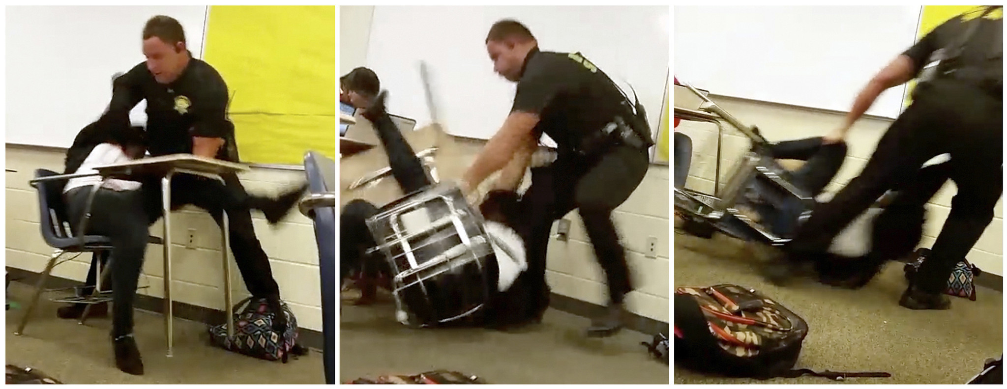 Girl in police spank