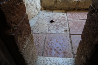 Hole where St. Francis cast a demon
