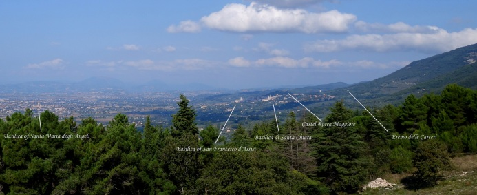 Assisi from Mt Subasio