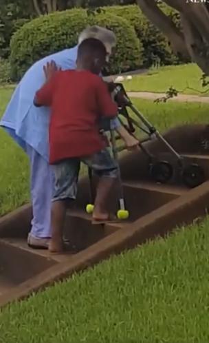 boy helps